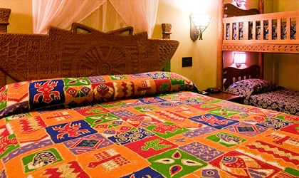 A room at Disney's Animal Kingdom Lodge