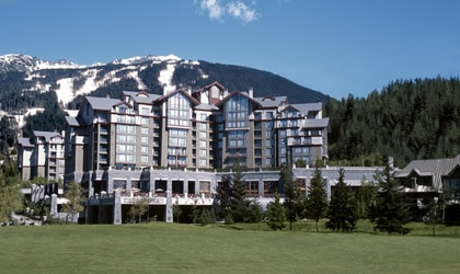 An exterior view of The Westin Resort & Spa, Whistler in British Columbia, Canada