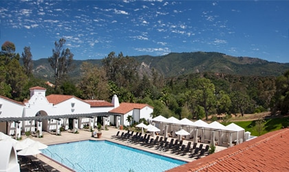 The Herb Garden Pool at the Ojai Valley Inn & Spa in Ojai, California
