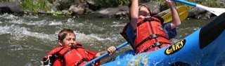 Kayaking at Vista Verde Ranch, one of GAYOT's Top 10 Family Resorts in the U.S.