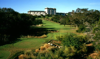 The golf course at Omni Barton Creek Resort in Austin, Texas