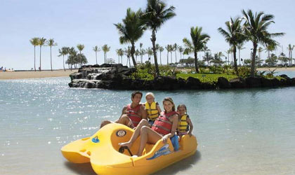 Spend some family quality time at Hilton Hawaiian Village Waikiki Beach Resort in Waikiki Honolulu, Hawaii