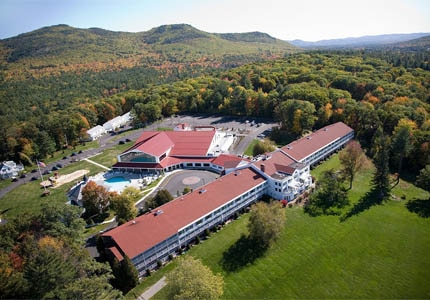An aerial view of Red Jacket Mountain View Resort in New Hampshire