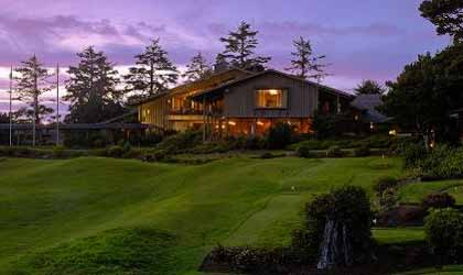 The picturesque exterior of Salishan Spa & Golf Resort in Oregon
