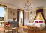 A guest room at The St. Regis Florence, one of GAYOT's Top 10 Business Hotels in Florence