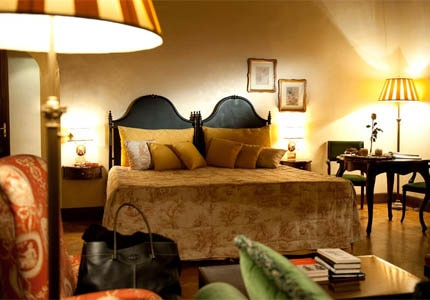 A guest room at Grand Hotel Baglioni Firenze, one of GAYOT's Top 10 Hotels in Florence
