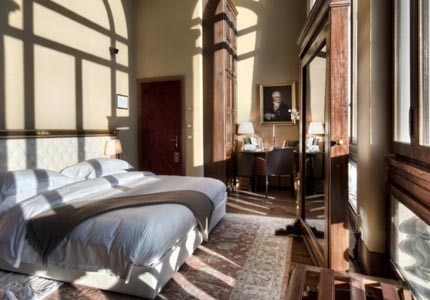 A guest room at Il Salviatino in Florence, Italy