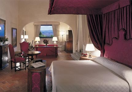 A guest room at Belmond Villa San Michele, one of GAYOT's Top 10 Hotels in Florence
