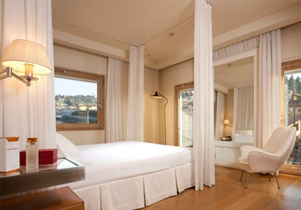 A guest room at Continentale in Florence, Italy