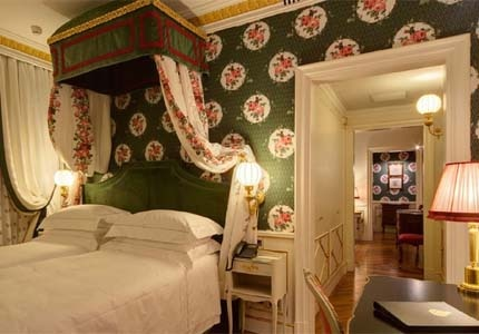 A guest room at Grand Hotel Villa Cora in Florence, Italy