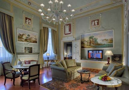 A guest room at Villa Olmi Resort Firenze in Florence, Italy
