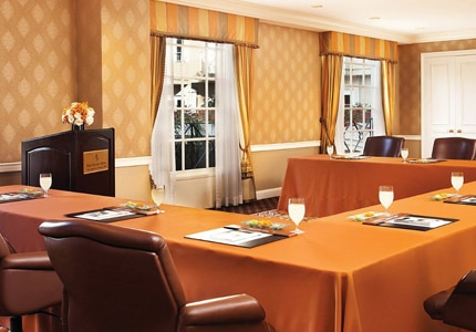 A conference room at Four Seasons Hotel Los Angeles at Beverly Hills, one of GAYOT's Top Business Hotels