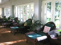 A traditional sitting area at the Four Seasons Resort Lana'i, The Lodge at Koele