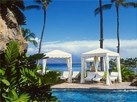 Pool cabanas at Four Seasons Resort Maui at Wailea in Hawaii