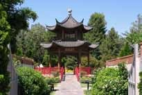 The pagoda in the gardens of The Four Seasons Westlake Village