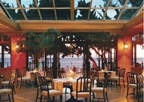Dining room at Bella Vista restaurant at Four Seasons Resort The Biltmore in Santa Barbara, California