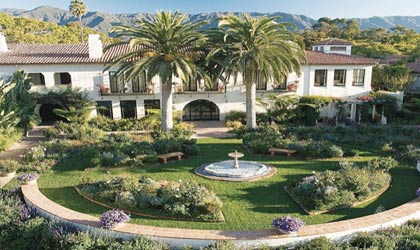 The lush gardens of Four Seasons The Biltmore Santa Barbara