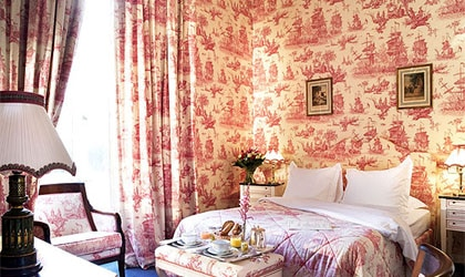 A room at Chateau D'Artigny in Loire Valley, Montbazon