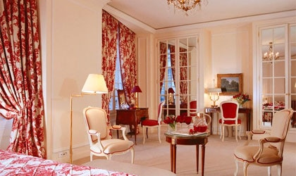 A suite at Hôtel Le Bristol in Paris