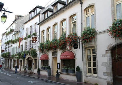 The exterior of Hotel Le Cep in Beaune, France
