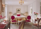 A guest room at Le Meurice in Paris, one of GAYOT's Top 10 Hotels in France