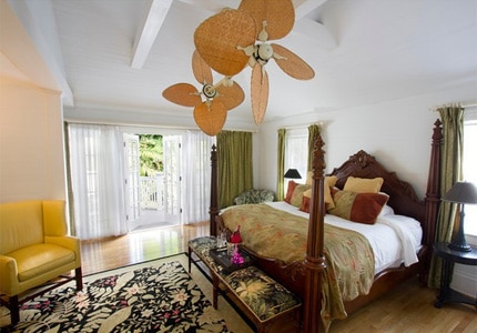 A guest room at the Gardens Hotel in Key West, Florida