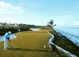 The 18th hole at the Hotel Transamérica Ilha de Comandatuba in Brazil