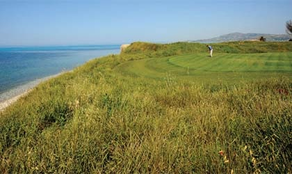 The golf course at Verdura Golf & Spa Resort in Italy