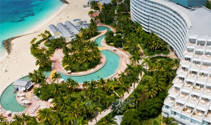 An aerial view of Grand Lucayan, Bahamas