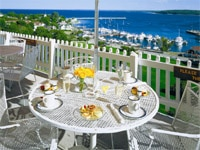 Outdoor dining at Grand Hotel on Mackinac Island, Michigan