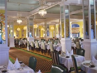 The main dining room at Grand Hotel on Mackinac Island, Michigan