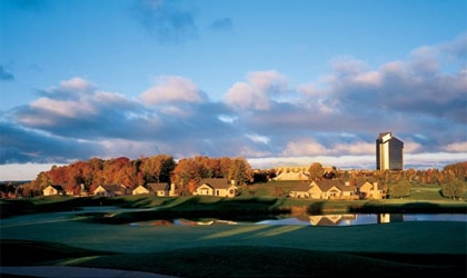 A view from Hole 15 on The Bear golf course at Grand Traverse Resort and Spa in Acme, Michigan