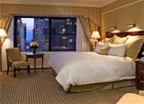 A guest room at The New York Palace in New York City