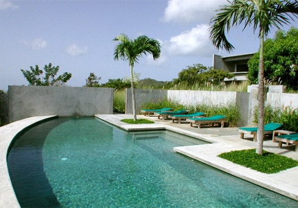 The swimming pool at Hix Island House in Vieques, Puerto Rico