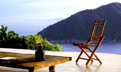 Mountain views at the Verana resort in Yelapa, Mexico