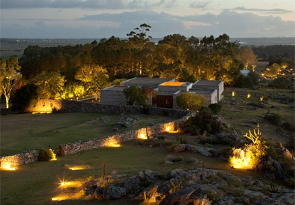 Lush exterior of Fasano Punta del Este, one of GAYOT's Top 10 Honeymoon Hotels Worldwide