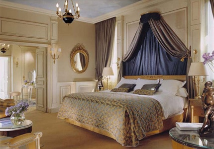 The Belle Etoile Royal Suite at Le Meurice, one of  GAYOT's Top 10 Honeymoon Hotels Worldwide