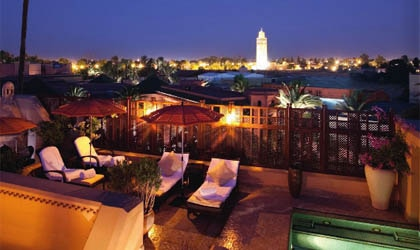 A view from Royal Mansour Marrakech in Morocco