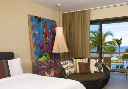 A guest room at W Retreat & Spa — Vieques Island, one of GAYOT's Top 10 Honeymoon Hotels Worldwide