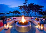 The fire pit at W Retreat & Spa - Vieques Island in Puerto Rico