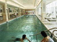 Indoor pool at the Hong Kong Disneyland Hotel in China
