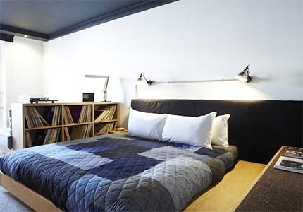 A guest room at Ace Hotel London Shoreditch in England