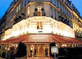 Exterier of the Hotel Fouquet's Barriere on the corner of the Champs Elysees