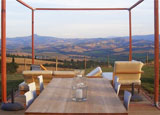A romantic and relaxing view at La Bandita, Tuscany
