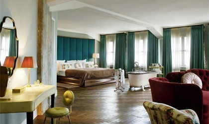 At room at Soho House Berlin in Germany