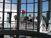 A view of Downtown Los Angeles from the L.A. Convention Center