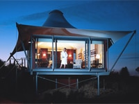 A tent at Australia's Longitude 131, one of our Top 10 Remote Hotels Worldwide