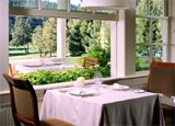 A dining area at The Restaurant at Meadowood at Meadowood Napa Valley