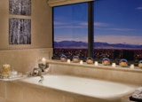 The view from the bathtub in The Ritz-Carlton Suite at The Ritz-Carlton, Denver