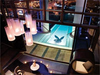The pool overlooking Las Vegas at The Hugh Hefner Sky Villa at the Palms Casino Resort